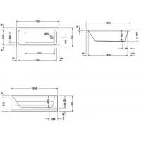 Ванна прямоугольная Duravit D-Code 160x70, без ножек, 700096000000000
