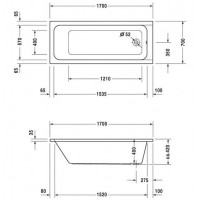 Ванна прямоугольная Duravit D-Code 170x70, без ножек, 700098000000000