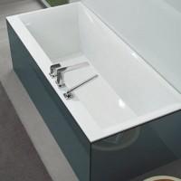 Ванна  прямоугольная VILLEROY&BOCH SQUARO 180*80см в комплекте с  ножками  UBQ180SQR2V-01