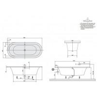 Ванна VILLEROY&BOCH LOOP & FRIENDS 180*80см BA180LF07V-01