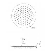Верхний душ IMPRESE S200SS2 диаметр 200 мм