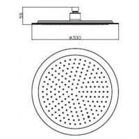 Верхний душ IMPRESE S300 диаметр 300 мм