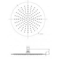 Верхний душ IMPRESE S300SS2 диаметр 300 мм