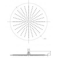 Верхний душ IMPRESE S400SS2 диаметр 400 мм