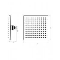 Верхний душ IMPRESE SQ200 диаметр 200 мм