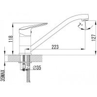 VOLLE NEMO 15144200 Смеситель для кухни хром 35 мм